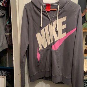 Nike zip up hoodie. Size L